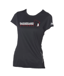 Silk screened - Ladies' Tempo Performance T-Shirt with Full Front design